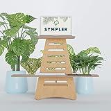 SYMPLER Höhenverstellbarer Schreibtischaufsatz aus nachhaltigem Holz |...
