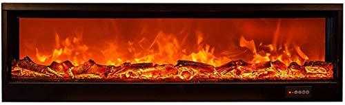 CLOTHES Estufa de Chimenea eléctrica Inserte chimeneas eléctricas montadas en Pared y Pared, con Troncos remotos de Efectos de Llama LED realistas y fogones empotrados contra Incendios.