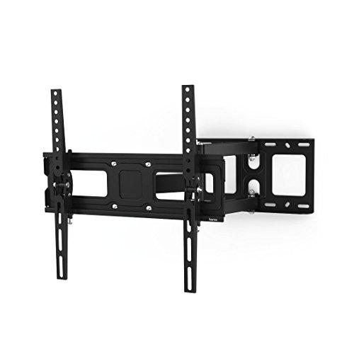 Hama TV Wandhalterung schwenkbar 180°, neigbar, ausziehbar (universale TV Halterung für Curved und Flat TV 32-65 Zoll, Wandhalterung inkl. Fischer Dübel u. Kabelbinder, bis VESA 400x400, max. 35 kg)