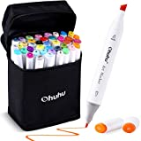Ohuhu Art Markers Set, Dual Tips Coloring Marker Pens for Kids, Fine