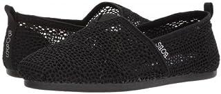 [ボブス スケッチャーズ] レディース 女性用 シューズ 靴 ローファー ボートシューズ Bobs Plush - Spring Blast - Black/Black [並行輸入品]