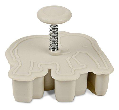 Staedter Emporte-pièce avec éjecteur de gaufrage éléphant, Gris, 5.5 cm