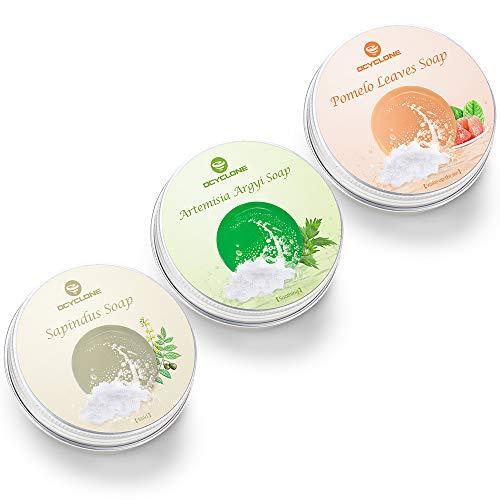 3 Pezzo Shampoo Solido, OCYCLONE Shampoo Bar Plant...