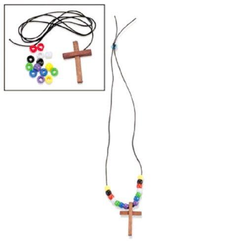 Fun Express Wood Cross Faith Necklace Craft Kits (1 dz)