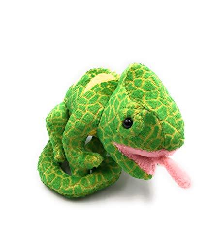 Onwomania Peluche Peluche Animal camaleón Verde Reptil escamoso 17 cm