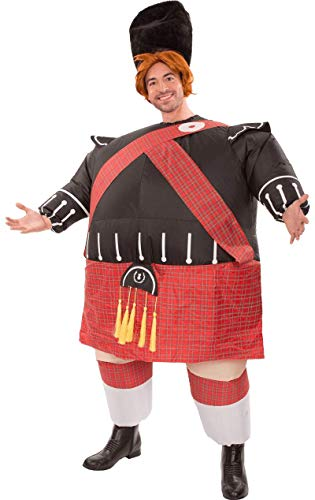 Mens Inflatable Fat Scot Bastard Tartan Novelty Funny Stag Fancy Dress Costume