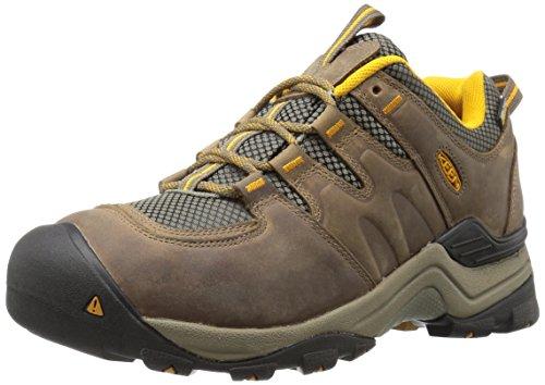 KEEN Herren Gypsum II WP Trekking- & Wanderhalbschuhe, Braun (Shitake/Golden Yellow), 42.5 EU