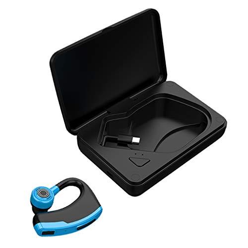 IPOTCH Auricular único Manos Libres Inalámbrico Bluetooth 5.0 - Azul