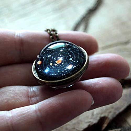 Lsooyys Collar con colgante de galaxia original, cristal del universo, diseño del cosmos espacial, artesanía artesanal, cumpleaños, Navidad, aniversario de boda, regalo del día de San Valentín