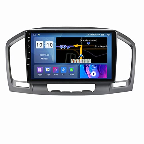 Estéreo para automóvil para Regal 2009-2013 Opel Insignia 2008-2013 Radio Navegación GPS Android 10.0 DSP Carplay 10.1 Pulgadas IPS Pantalla táctil BT 4G WiFi SWC con cámara de Respaldo