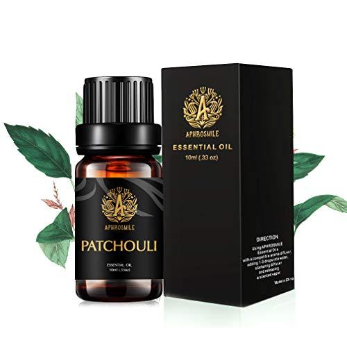 Aphrosmile Patchouli Ätherisches Öl - 100% Reines Patchouli Öl, Ätherisches Aromatherapie Öl in Bio-Qualität, 10 ml / 0,33 Unzen