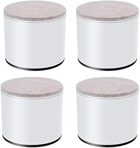 ADSE Patas de Muebles/Mesa de Patas/Muebles de Fibra de Carbono/Mats Mesa - Mute Antidesgaste - Tapete de café Mesa Tapete Autoadhesivo para sofá - Tapetes/Cuadrados -4 Piezas.