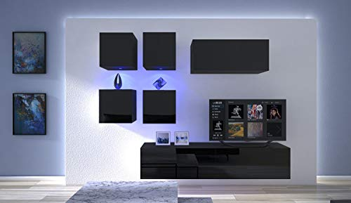 HomeDirectLTD Moderno Conjunto de Muebles modulares Negro Br