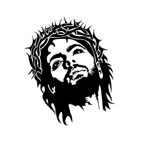 Jesucristo retrato de Dios religión cristiana Iglesia vinilo pegatina de pared pegatina para coche calcomanía para niños dormitorio sala de estar estudio de oficina decoración del hogar Mura