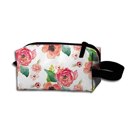 Travel Makeup Floral Dreams White Beautiful Waterproof Cosmetic Bag Quick Makeup Bag Pencil Case
