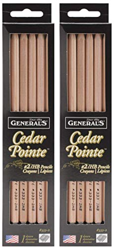 2-Pack - General Pencil Company Cedar Pointe No. 2 Pencil - 12 Pencilsp Each Pack