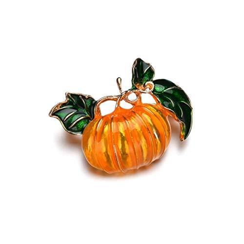 WEN-mask Brosche Kürbis Pflanze Simulation Corsage Halloween Ornament (3 Stück)