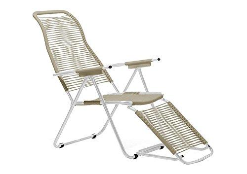 sedia sdraio gambe Fiam Sdraio Spaghetti Art. 084 TA telaio in Alluminio