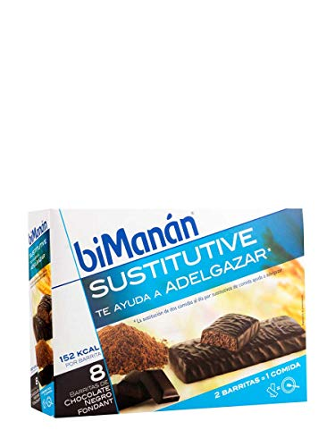 BIMANÁN Sustitutive Barritas Chocolate Negro Fondant 8 Uds