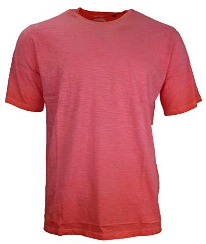 hajo Herren Rundhals T-Shirt, Hibiskus (XL)