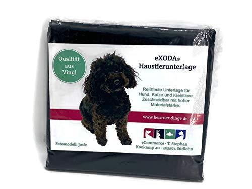 eXODA Haustier Unterlage für Hunde und Katzen 200x230 abwaschbar schwarz flexibel