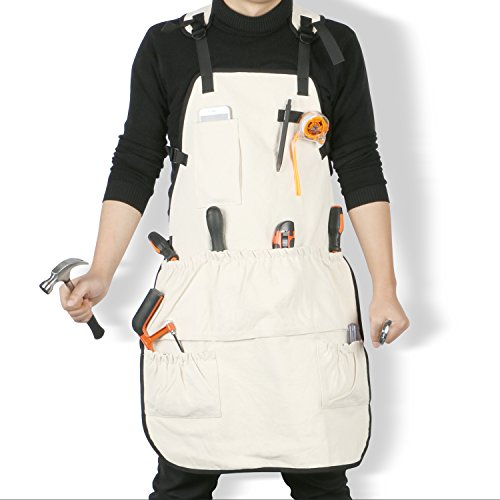 Jeezero Full Coverage Heavy-duty Canvas Work Apron with Pockets