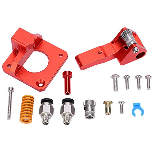 DAUERHAFT Accesorios de Impresora 3D de Doble articulación de polea Doble Kit de extrusora de Impresora 3D Kit de extrusora de tamaño pequeño Materiales metálicos para CR-10S