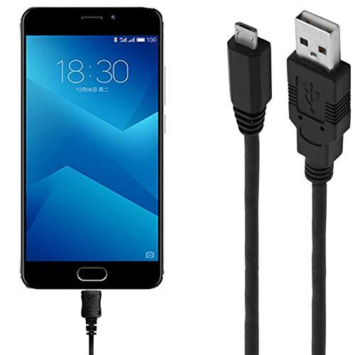 ASSMANN Ladekabel/Datenkabel kompatibel für Meizu M5 Note - schwarz - 1m