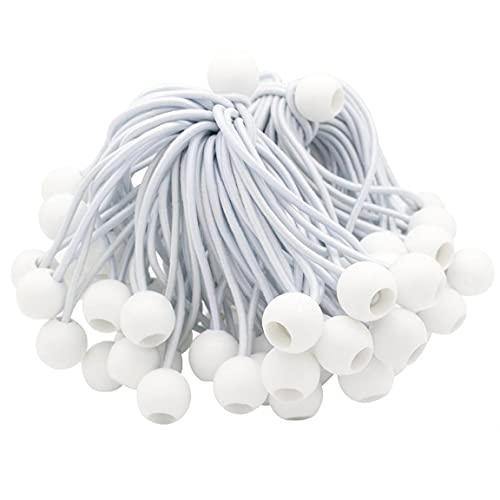 50pcs Bungee Cuerda Que Ata La Bola Lona Banner Cuerda Lona Elástica Cuerda Cuerda De La Tienda Tienda De Campaña Cubierta Blanca