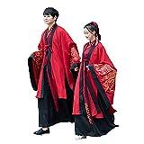 YCWY Hanfu Chino Antiguo para Mujer y Hombre, Vestido Chino Bordado de época para la sesión de Fotos de Bodas Auspicioso en la Nube Imprimiendo 3 Trajes,L