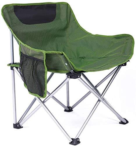Lanrui Al aire libre portátil compacto camping silla plegable silla de playa con bolsa de almacenamiento lateral transpirable cómodo para la familia jardín camping auto-conducción tour silla plegable