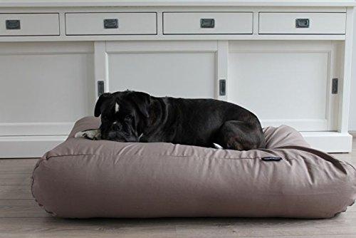 Dog's Companion® Hundebett Taupe Baumwolle Small