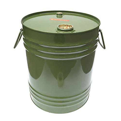NYKK Benzinkanister Auto Fuel Barrel Metalltrommel Container Kraftstoff Barrel Gas-Behälter mit einfachen Handgriff zu bewegen (Grün) Fässer Benzin (Größe : 50L)