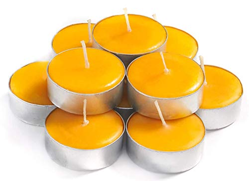 Exquizite Sandalwood Scented Tea Lights Candles - 30-Pack - Highly Scented Sandalwood Candles Set with 3-4 Hour Extended Burn Time - Scented Candles for Holiday, Wedding, Party and Home Decorations