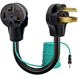 Dryer Adapter Cord, 4 Prong to 3 Prong Dryer Adapter Dryer Adapter 3 Prong To 4 Prong NEMA 14-30P Male to 10-30R Female Dryer Cord Adapter 4 to 3 prong STW 10AWG 30Amp 250V (10-30P to 14-30R)
