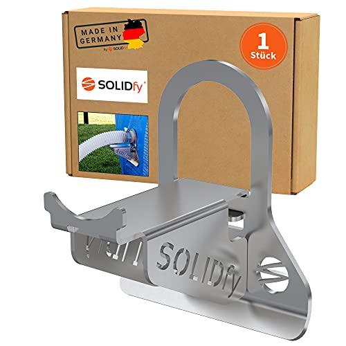 SOLIDfy® - 1x 26mm - 38mm Pool Schlauchhalter Knickschutz aus Edelstahl für Intex und Bestway Swimmingpools