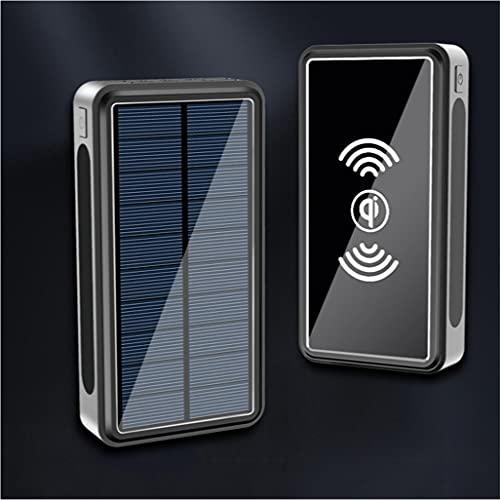 PIANAI Solare Power Bank 100000mAh/Caricabatterie Portatile Solare/Caricatore Solare/Banca di energia Solare/Caricabatterie Solare Portatile/Caricabatterie Solare per cellulari,Nero,100000 mAh