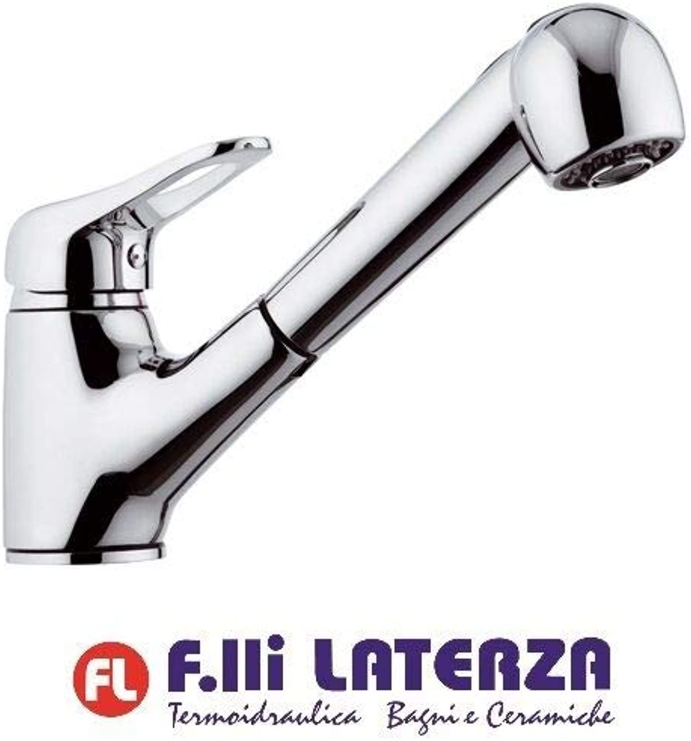 Remer Single-Handle Mixer Tap for Sink with Extendible Shower Variable Jet