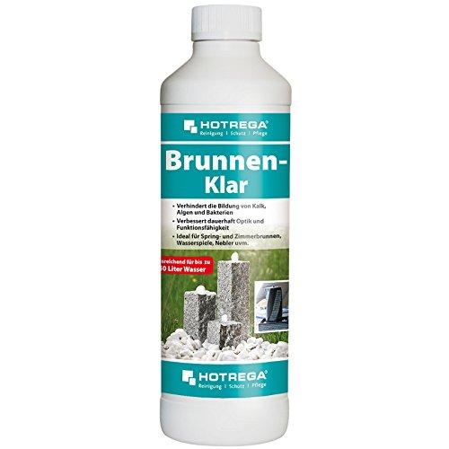 HOTREGA Brunnen Klar 500ml - Profi Brunnenreiniger für Garten- und Zimmerbrunnen