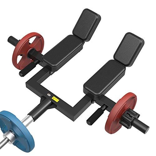 Krafttraining Schwerkrafttrainer T Bar Row Langhantel Schulter Kniebeugen Push Frame Achselzucken Zurückziehen Rudern Kern Langhantel Kniebeugen Griff Ausrüstung (Color : Black2)