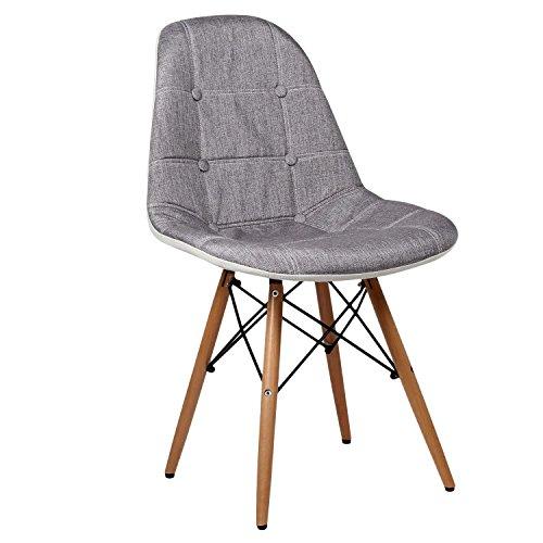 SuperStudio Lo + de Moda Wooden Tapiz Silla, Gris...