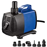 JAJALE 2000 GPH Submersible Water Pump Ultra Quiet for Pond,Aquarium,Fish Tank,Fountain,Hydroponics