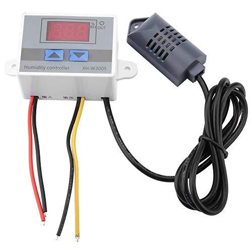 YAeele Controlador de Humedad Digital, Interruptor de Sensor de higrómetro, 0~99% RH Alta precisión 0.1%, 12V / 24V / 220V Opcional, humidificación, deshumidificación y Control de Humedad Constante