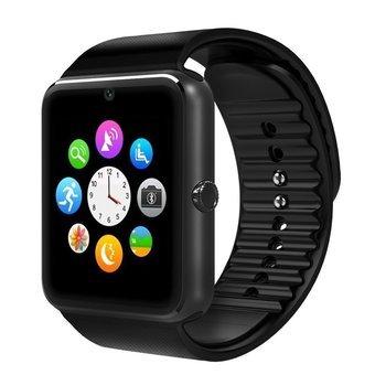 SmartWatch GT Reloj Inteligente 08 (con Android, Ranura Tarjeta SIM y SD, Cámara frontal, Bluetooth, Pulsera Actividad Deporte, Reloj Hombre, Mujer, Reloj Fitness con Podómetro, Cronómetro) - Negro