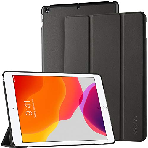 EasyAcc Hülle Kompatibel mit iPad 8. Generation 2020/ iPad 10.2 2020 2019/ iPad 7 Generation - Ultra Dünn mit Standfunktion Auto Sleep/Wake Up Funktion Slim PU Leder Hülle Hochwertiges, Schwarz