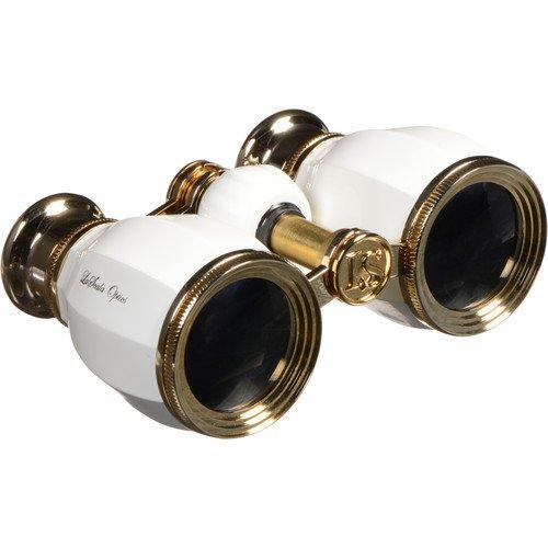 LaScala Optics 4x30 Hamlet Opera Glasses (White & Gold) LSH-09