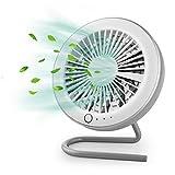 GeeRic Ventilador de Mesa, Mini Ventilador portátil magnético USB para automóvil/automóvil, Ventilador silencioso Plegable para portátil, Oficina en casa y Viaje con 3 velocidades, Blanco