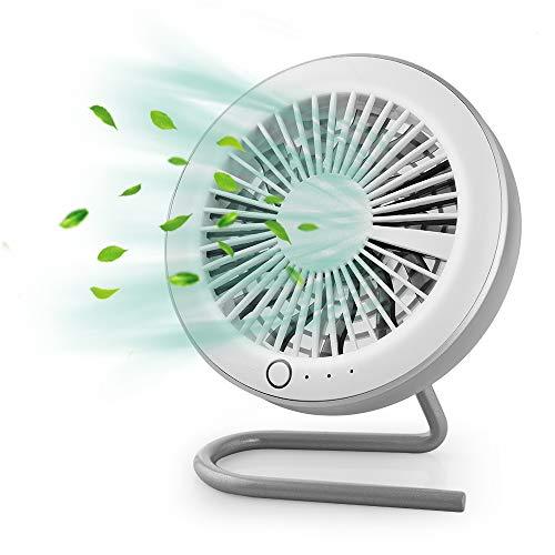 GeeRic Ventilatore da Tavolo, USB Mini-Ventilatore Magnetica Portatile per Macchina Auto, Silenzioso Ventilatore Pieghevole per Notebook Casa Ufficio e Viaggi con 3 Marcia velocità Bianco