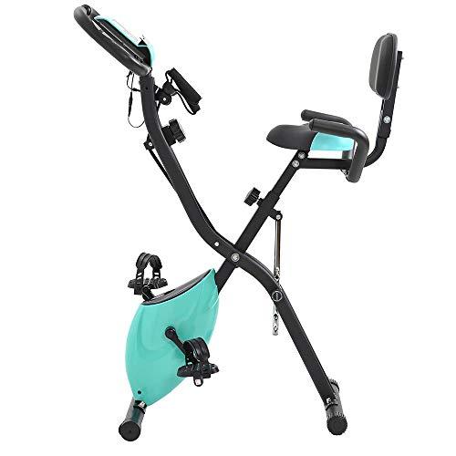 SISHUINIANHUA Fitness Bike Brake Brake con la frequenza cardiaca Copertura del Piede X-Tipo Esercizio Bicicletta Professionale Bike Trainer Allenatore Accessori da Equitazione