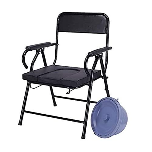 Z-SEAT Silla con Inodoro Plegable, Silla Plegable portátil Bandeja de Cama extraíble con Inodoro Incorporado para Personas con discapacidades, Ancianos y Otros